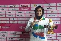 صفرزاده به مدال برنز دوی ۱۰۰ متر بانوان رسید