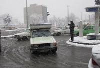 بارش خفیف برف و لغزندگی در جاده کرج –چالوس