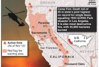 California wildfires: Hundreds missing after state's deadliest fire – and conditions are likely ...