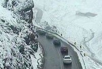 بارش برف در برخی محورهای مواصلاتی کشور