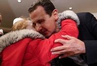 دیدار بشار اسد با زنان و کودکان آزاد شده از اسارت داعش