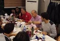 رئیس فدراسیون فوتبال در اردوی تیم ملی حضور یافت