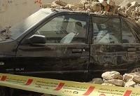 ریزش دیوار روی ۵ خودرو در غرب تهران
