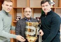 اهدای جام قهرمانی سوپرجام به پرسپولیس