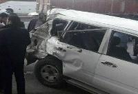 علت تصادف خودروی همراهان وزیرکار اعلام شد + فیلم