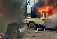 شکستن کمر مزدوران سعودی در غرب فرودگاه الحدیده + فیلم