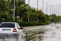 بارش باران در جاده های شمالی