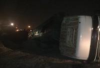 واژگونی تانکر حامل تینر فوری در محور قدیم ساوه - تهران