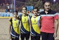 قزوین قهرمان مسابقات والیبال ساحلی استعدادهای برتر ایران شد