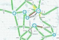 ترافیک نیمه سنگین در برخی از ورودیهای شهر مشهد+نقشه