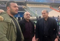 بازدید مدیرعامل و رئیس فدراسیون فوتبال از ورزشگا آزادی