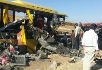 در ۴ تصادف اتوبوس بامداد جمعه ۲ نفر کشته و ۲۱ تن مجروح شدند