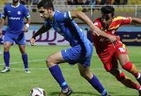 برتری نساجی مقابل استقلال خوزستان در پایان نیمه اول