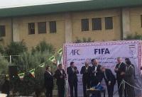 آغاز عملیات اجرایی ساختمان ۱۵ طبقه فدراسیون فوتبال با حضور شیخ سلمان + عکس