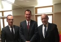 گفتوگوی وزیران امور خارجه انگلیس، آلمان و فرانسه درباره ایران