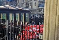 حادثه امنیتی در لندن/پارلمان انگلیس بسته شد+فیلم و تصاویر