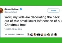 33 Funny Tweets About Christmas Tree Struggles, From Exhausted Parents