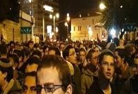تظاهرات هزاران شهرکنشین صهیونیست علیه نتانیاهو