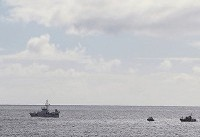 سقوط یک جنگنده آمریکایی در اقیانوس آرام