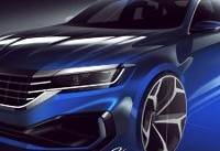 VW teases Detroit-bound 2020 Passat with sketches