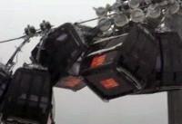 تصادف اتاقکهای تلهکابین اسکی در اتریش + فیلم