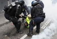 پلیس با گازاشکآور به استقبال جلیقهزردها رفت/ بیش از ۳۰ بازداشتی
