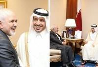 دیدار ظریف با نخست وزیر قطر (عکس)