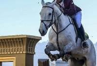 مسابقات کشوری پرش با اسب در کرمان+تصاویر