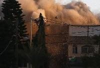 لحظه منفجر شدن منزل زن فلسطینی به وسیله نظامیان صهیونیست+فیلم و تصاویر