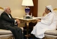 ظریف با همتای قطری خود دیدار و گفتگو کرد