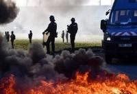 جلیقه زردها ایستگاههای عوارضی در فرانسه را به آتش کشیدند