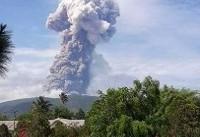 ارتفاع خاکستر در فوران آتشفشان سوپوتان اندونزی، به ۷۵۰۰ متر رسید