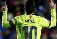 مسی به رکورد رونالدو نزدیک شد