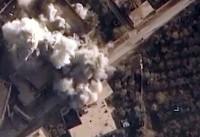 تصاویری از لحظه بمباران مواضع تروریستهای داعش در سوریه