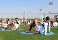 ۲ تصویر از تمرین ملیپوشان در قطر