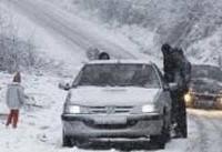 بارش شدید برف و کاهش دید در محورهای مواصلاتی استان زنجان