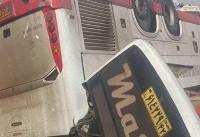 واژگونی اتوبوس در محور آرادان-سرخه/ ۲ نفر جان باختند+ تصاویر