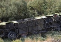 واژگونی اتوبوس مسافربری در جاده گرمسار به تهران