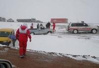 ۶هزار نفر در مناطق برفی گرفتار شدند