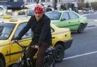 دوچرخهسواری شهردار تهران در سومین سهشنبه کاری خود / عکس