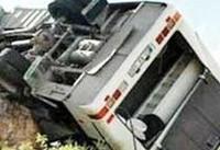 واژگونی اتوبوس در شیراز