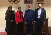 نایب رئیس فدراسیون جهانی ژیمناستیک با دبیرکل کمیته ملی المپیک دیدار کرد