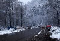 برف در محورهای کوهستانی البرز | مسیرهای ارتباطی باز است