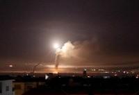 واکنش پدافندی ارتش سوریه به موشکهای مهاجم در اطراف فرودگاه دمشق