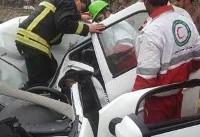 (عکس)سقوط سنگ بر روی ال ۹۰ یک کشته برجای گذاشت