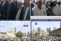روحانی در نماز جمعه حیدرآباد / استقبال گرم نمازگزاران از حضور رئیس ...