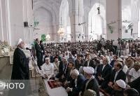 استقبال مردم حیدر آباد هند از سخنان روحانی در نماز جمعه این شهر به روایت ظریف