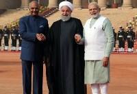 مراسم استقبال رسمی رئیس جمهور و نخست وزیر هندوستان از روحانی برگزار شد