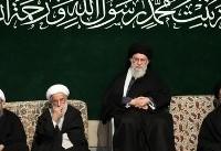 عزاداری حضرت فاطمه زهرا با حضور مقام معظم رهبری (عکس)