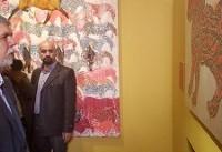 بازدید وزیر ارشاد از جشنواره هنرهای تجسمی فجر